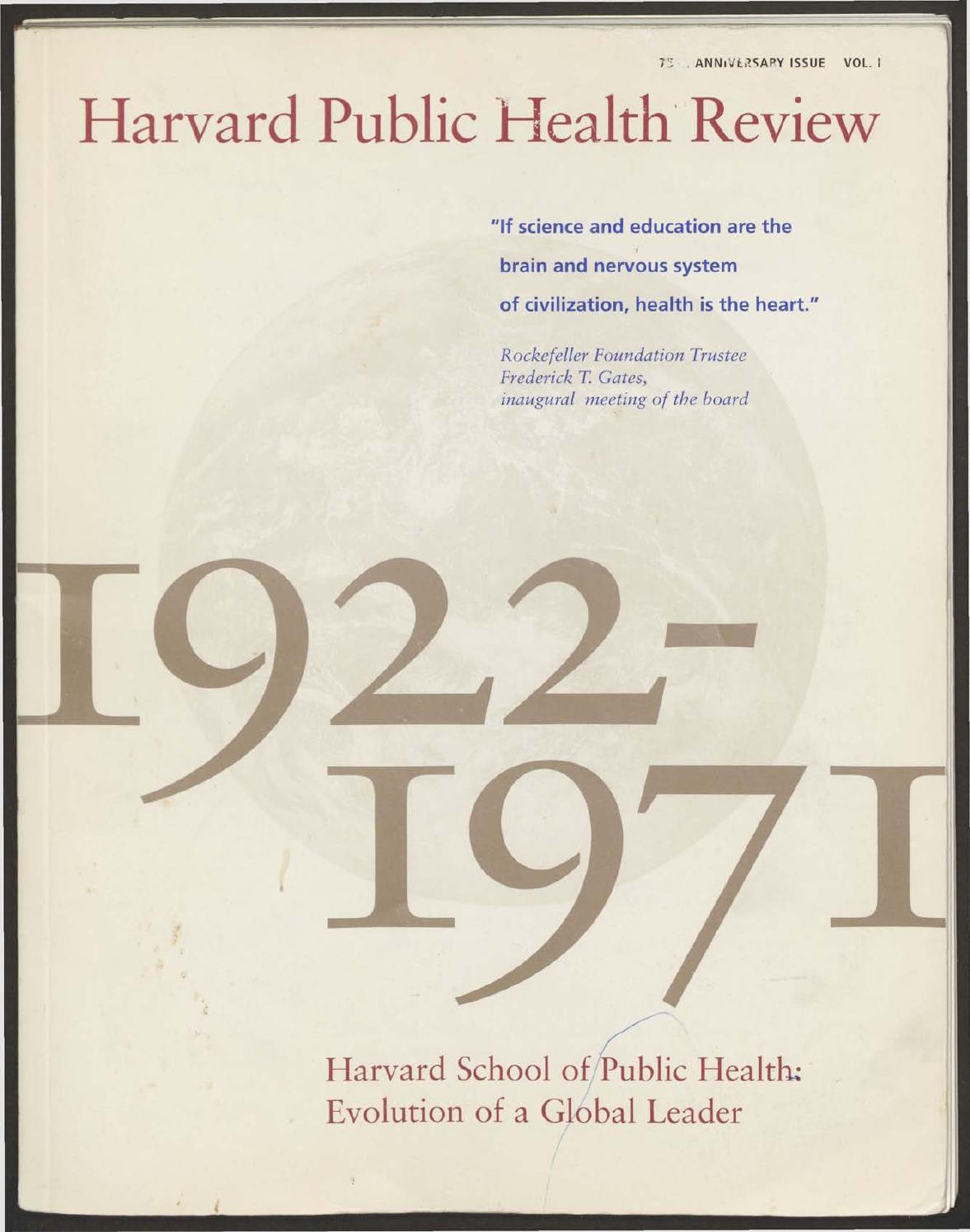 Harvard Public Health Review 75th Anniversary Issue Vol I By Electric Gate Motor Wiring Furthermore Diagram For Apollo Th Chan School Of Issuu
