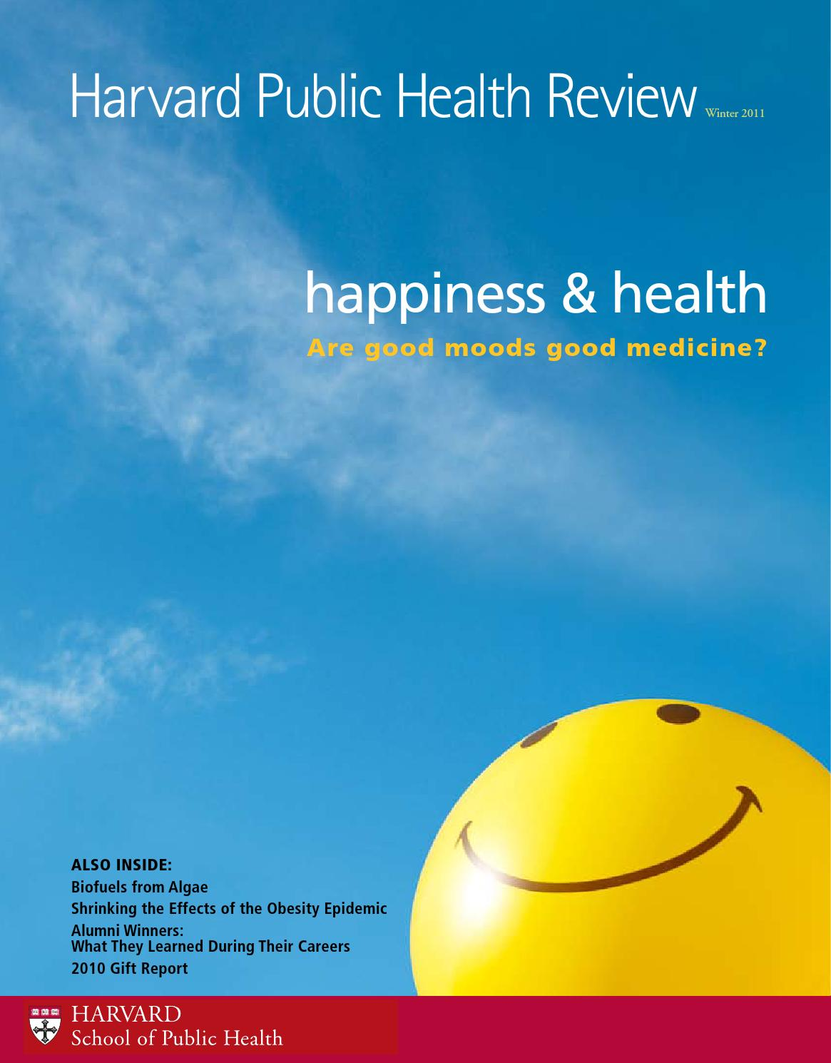 Harvard Public Health Review, Winter 2011 by Harvard T.H. Chan ...