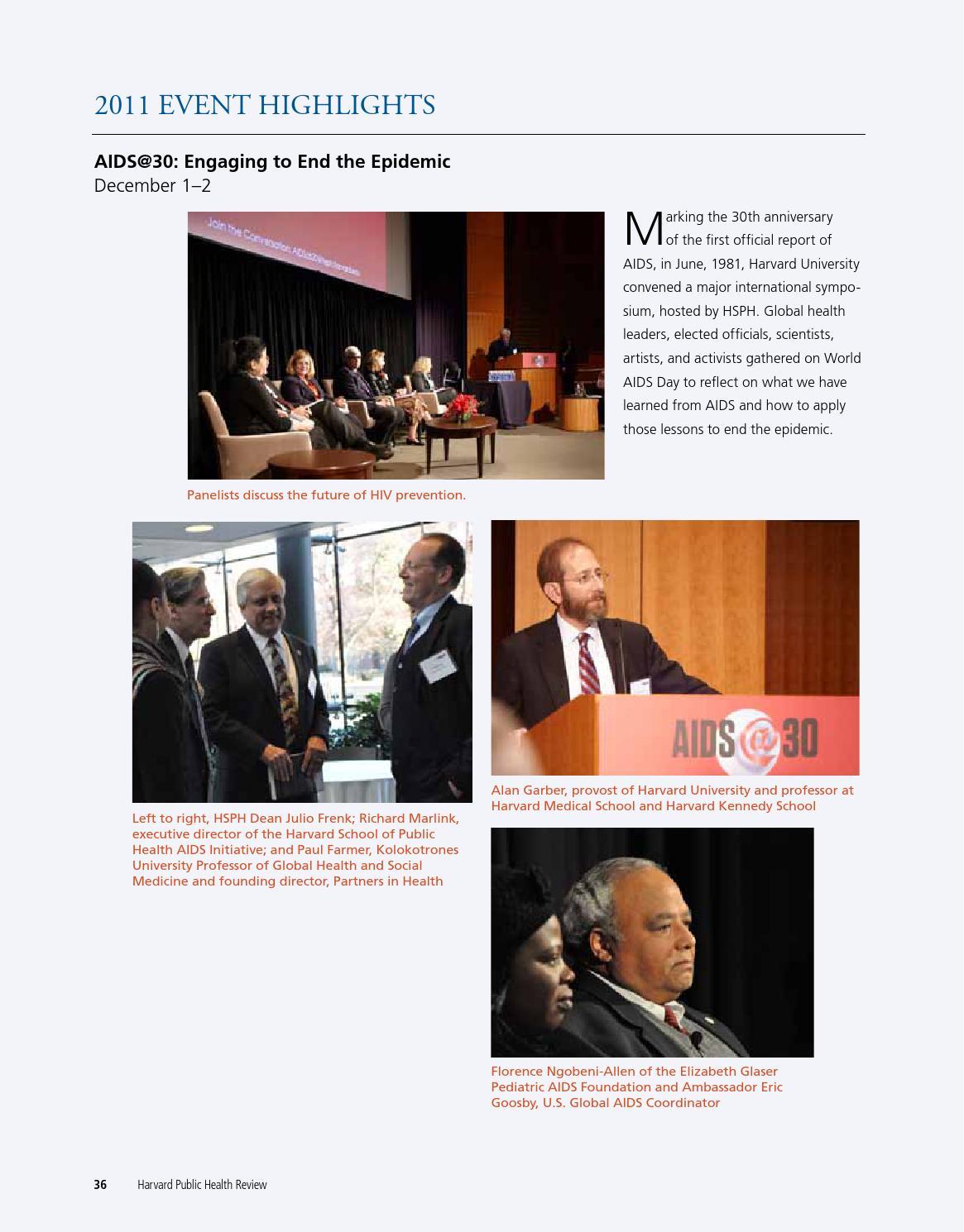 Harvard Public Health Review, Winter 2012 by Harvard T H