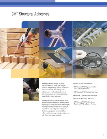 3m structural adhesives concrete repair and reclosable fasteners catalog