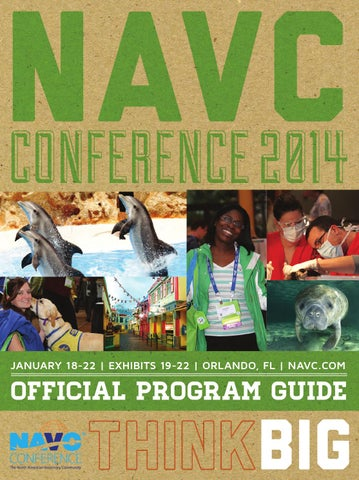 NAVC CONFERENCE 2014 JANUARY 18-22 | EXHIBITS 19-22 | ORLANDO, FL |  NAVC.COM. OFFICIAL PROGRAM GUIDE BIG