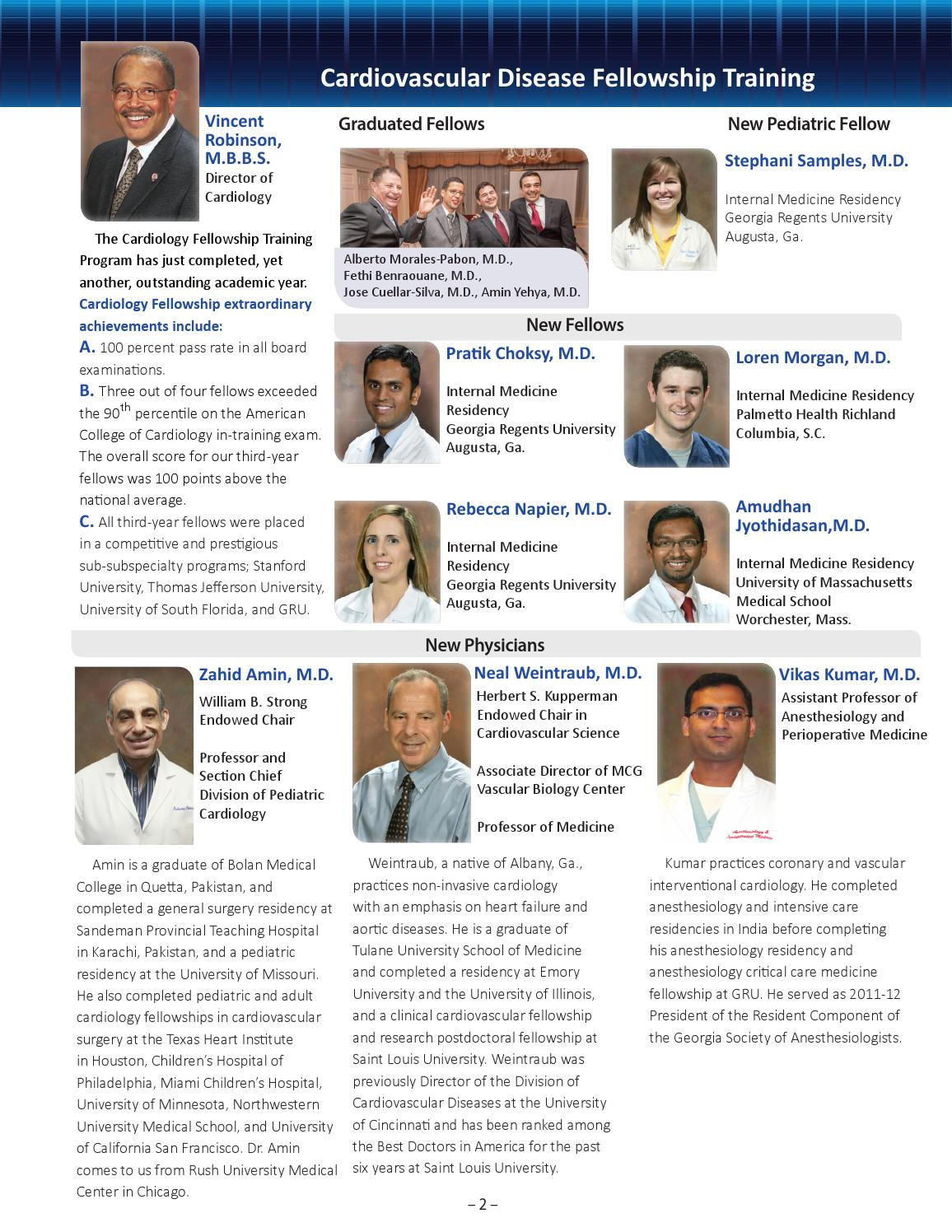Cardiovascular Services News fall 2013 by Augusta University
