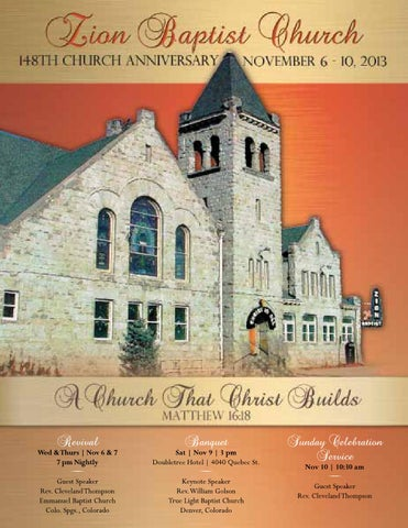 Zion baptist church 148th anniversary souvenir book by cynthia a church that christ builds 1 m4hsunfo