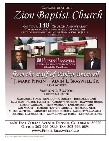 zion baptist church 148th anniversary souvenir book by cynthia