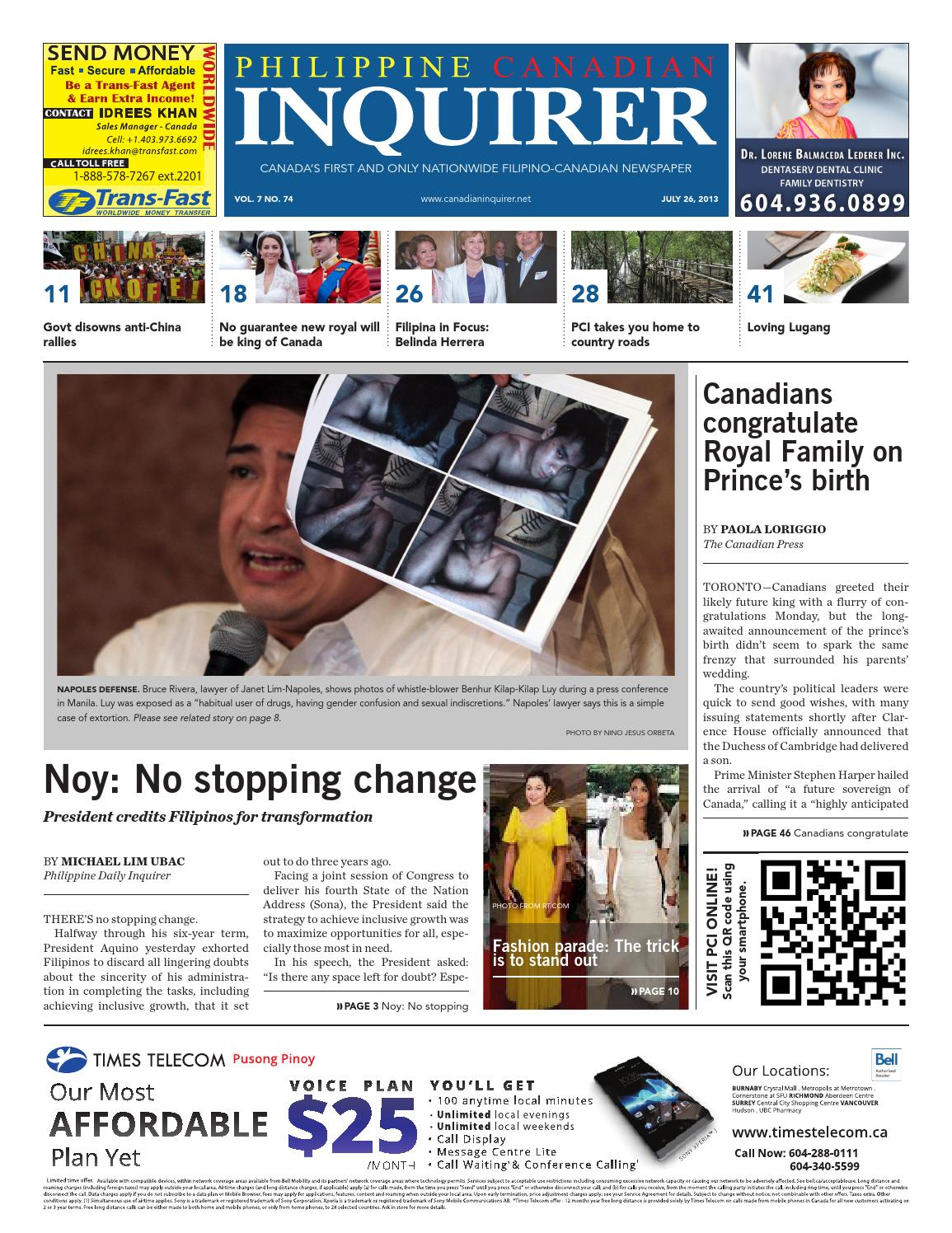 Philippine Canadian Inquirer Issue #74 by Philippine Canadian