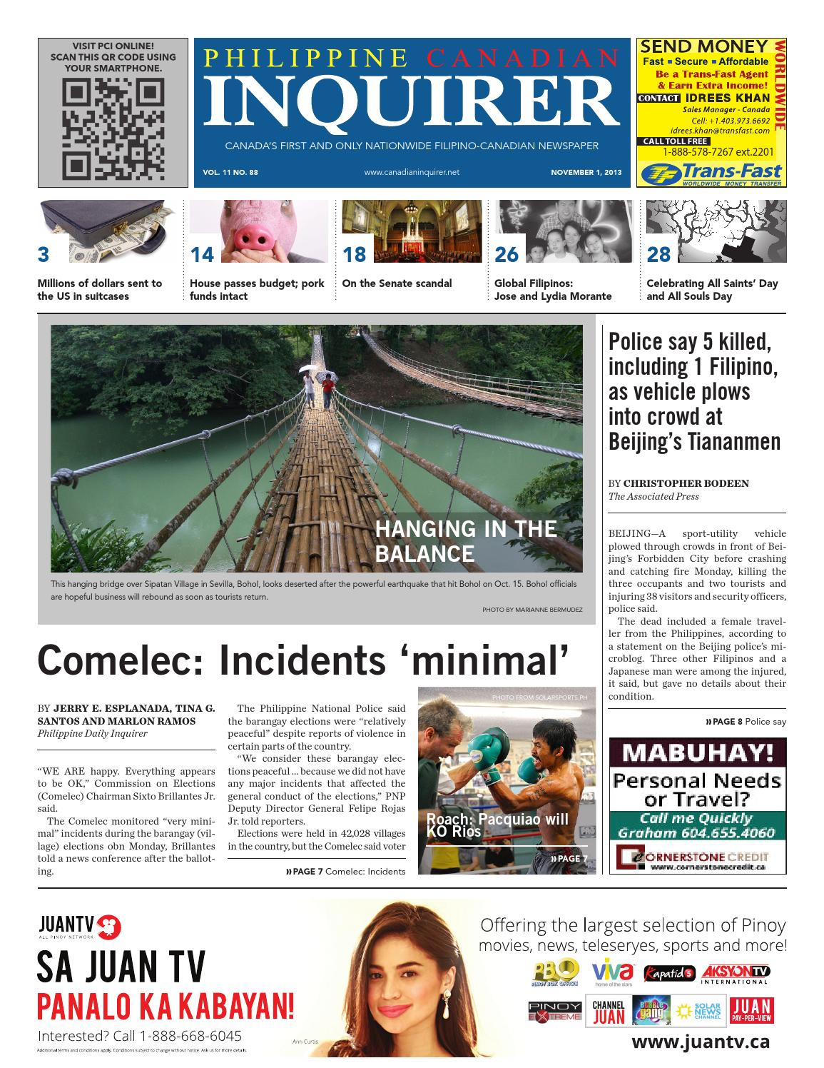 Philippine Canadian Inquirer Issue #88 by Philippine Canadian Inquirer -  issuu