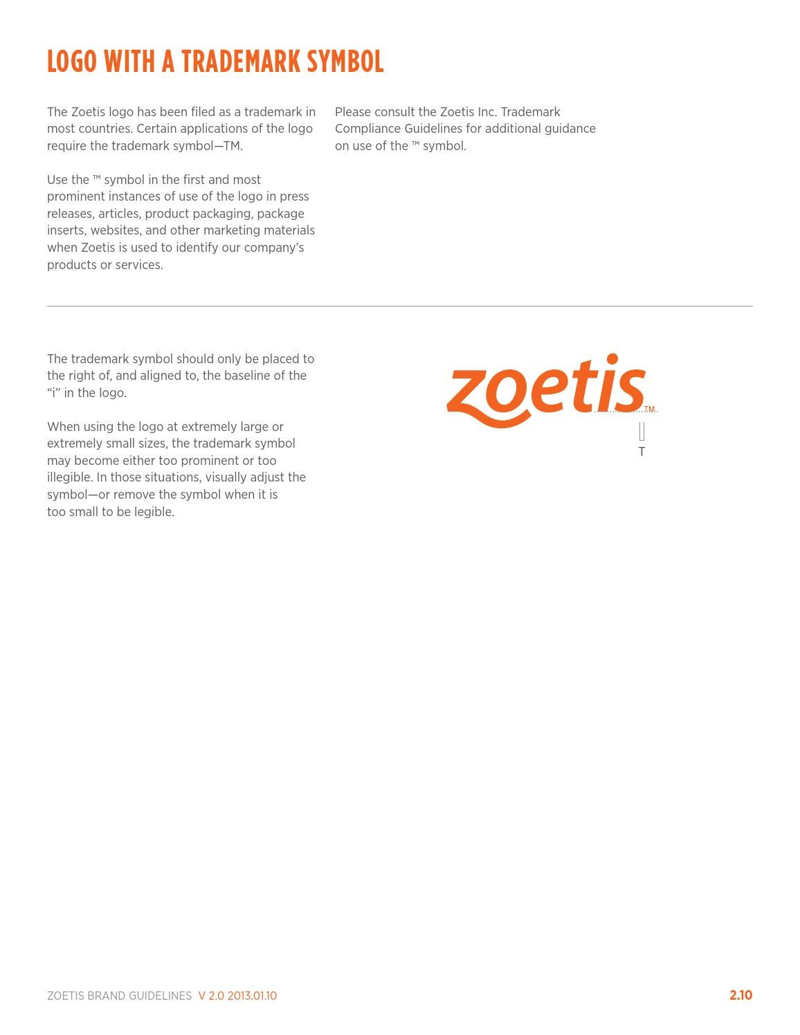 Zoetis Brand Guidelines January 2013 By Ray Bar Issuu