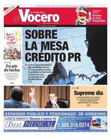 4863e5b9a Edición 16 de Enero 2014 by El Vocero de Puerto Rico - issuu