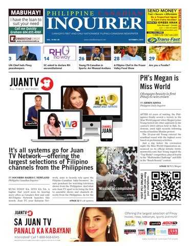 Philippine Canadian Inquirer Issue #84 by Philippine Canadian