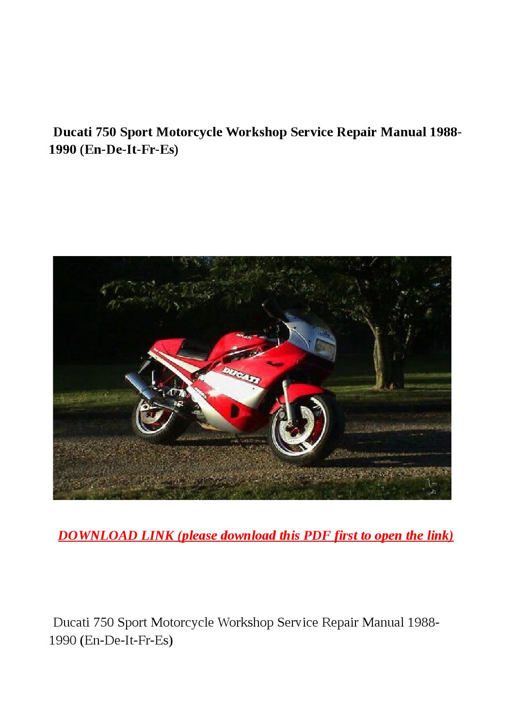 ducati 750 sport motorcycle workshop service repair manual. Black Bedroom Furniture Sets. Home Design Ideas