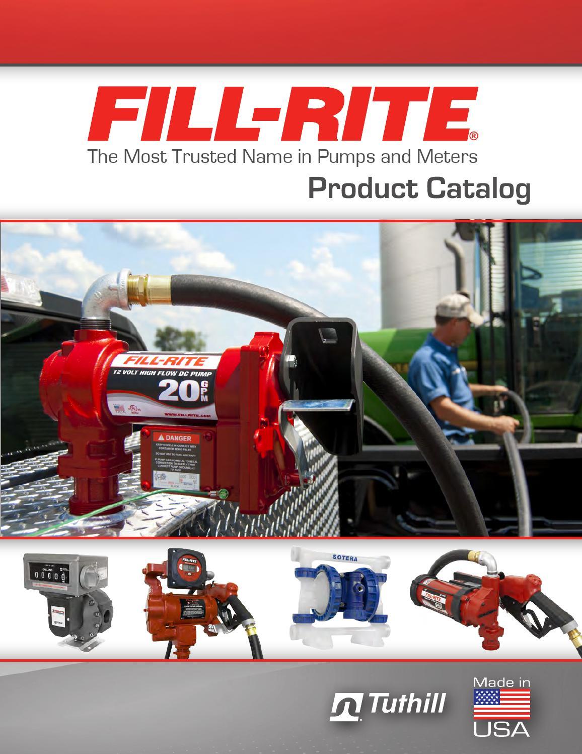 10 GPM 8' Hose Fill Rite FIL FR112 Rotary Hand Pump