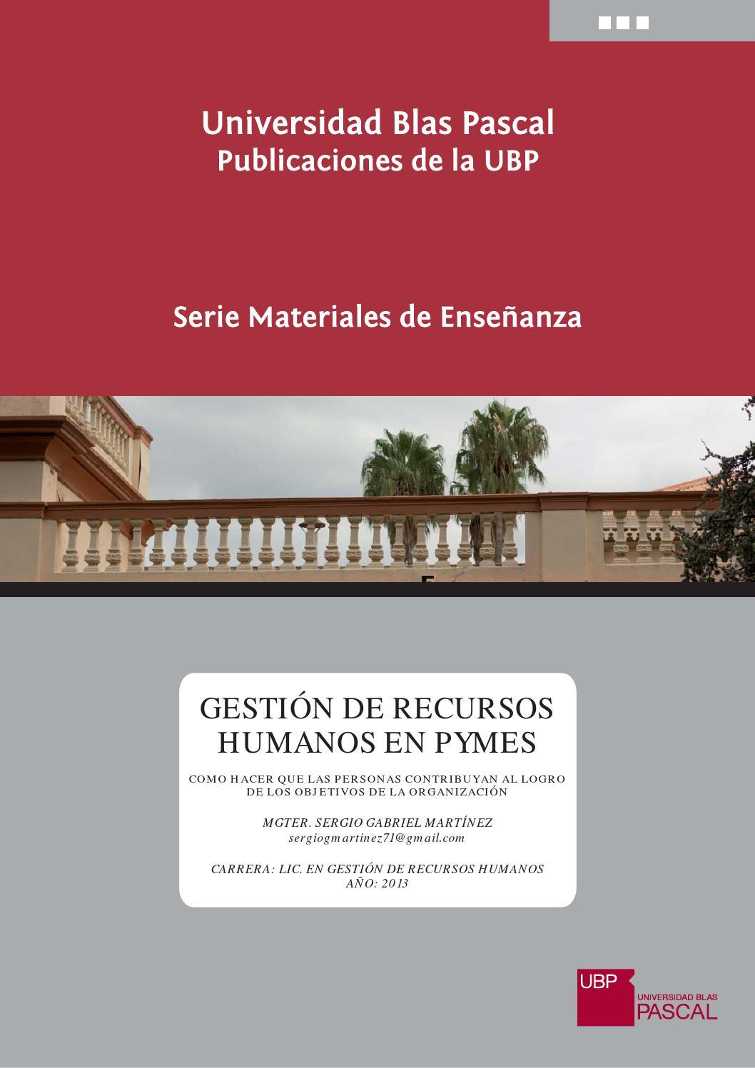 GESTIÓN DE RECURSOS HUMANOS EN PYMES by Universidad Blas Pascal - issuu