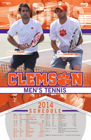 2014 Clemson Men S Tennis Media Guide By Clemson Tigers Issuu April 8, 1983 in clearfield, pennsylvania, usa. tennis media guide by clemson tigers