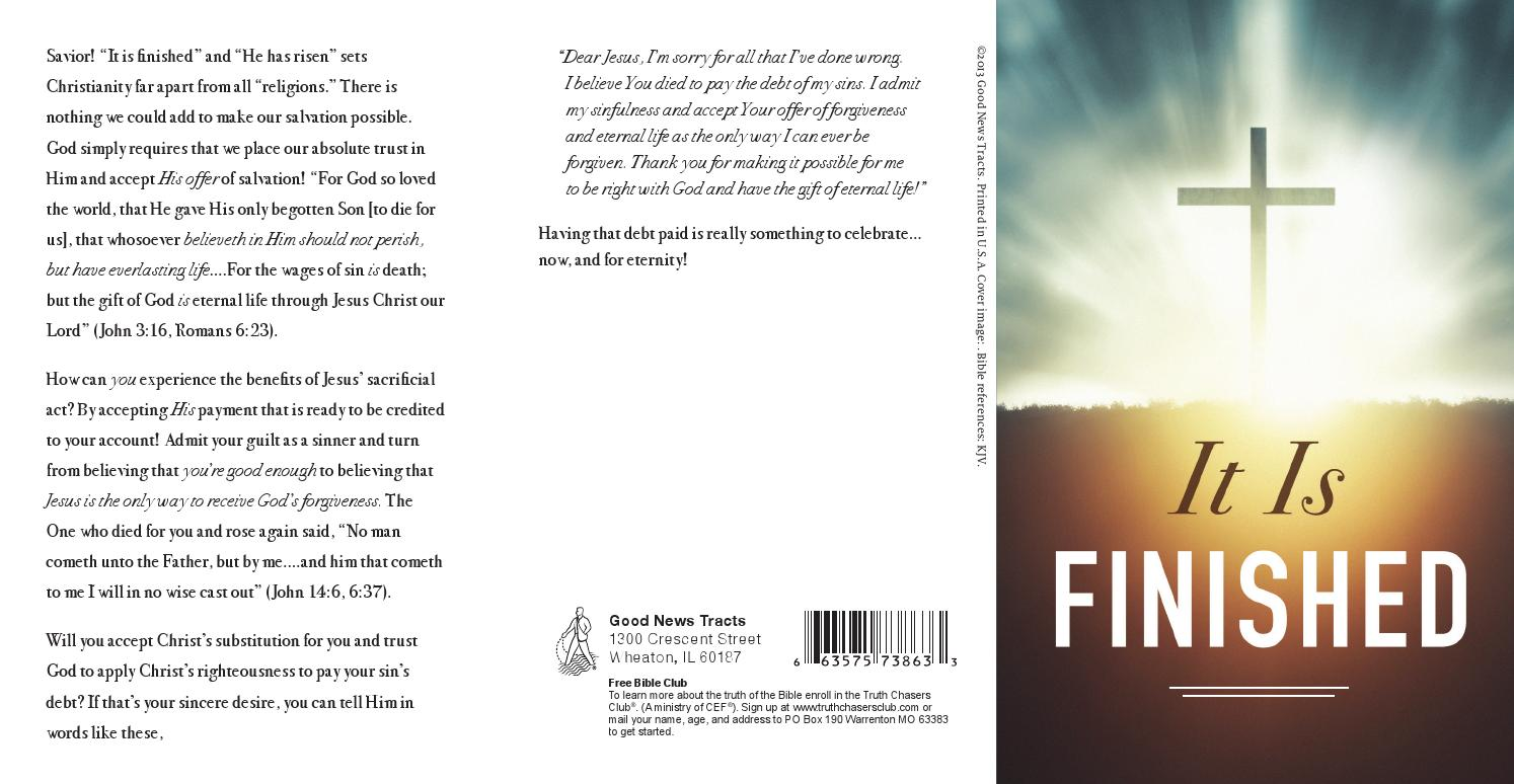 It Is Finished by Crossway - issuu