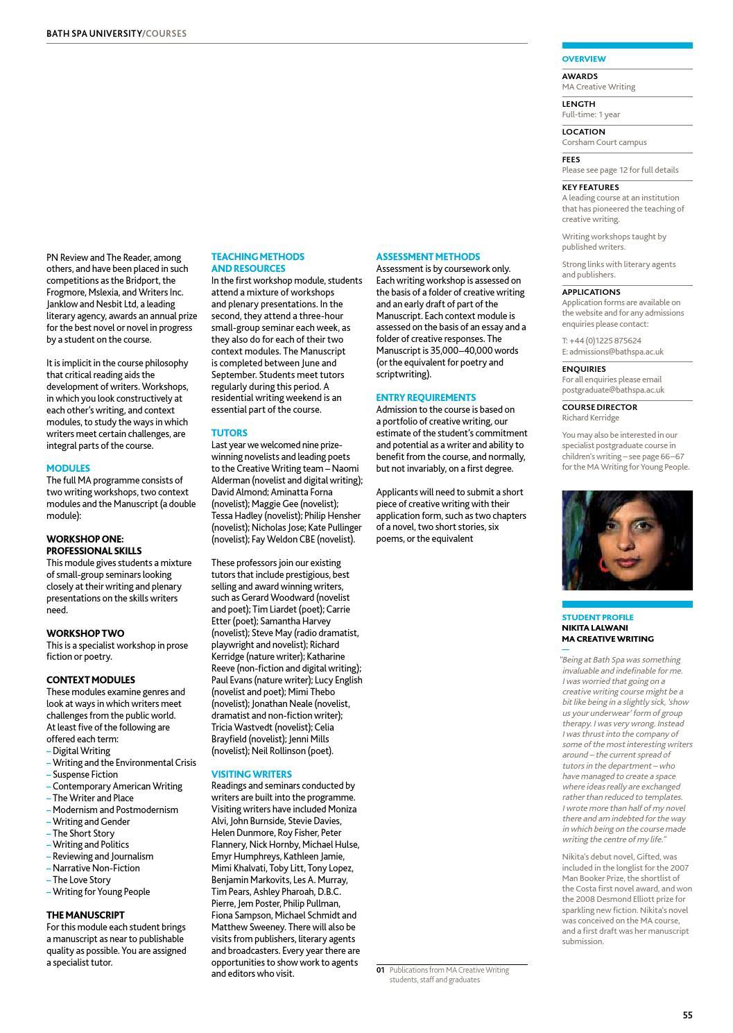 Postgraduate Prospectus 2014 by Bath Spa University - issuu