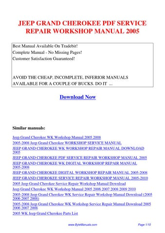 2013 jeep grand cherokee service manual pdf
