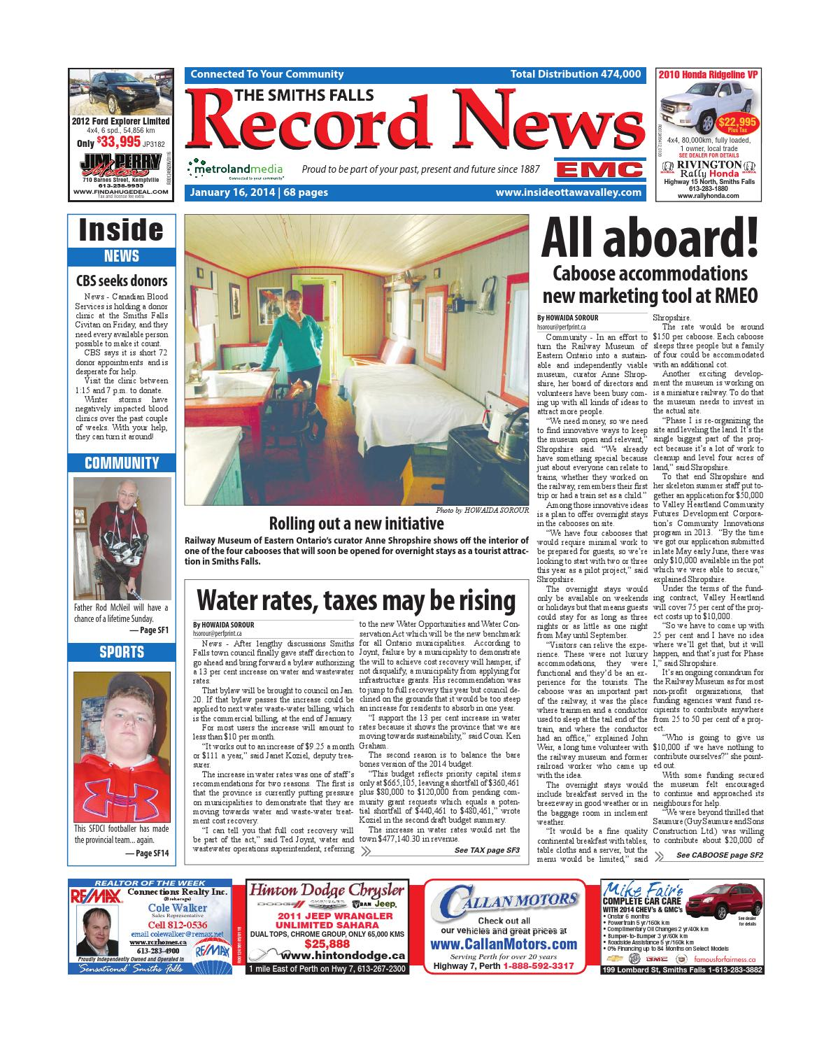 Smithsfalls011614 By Metroland East   Smiths Falls Record News   Issuu