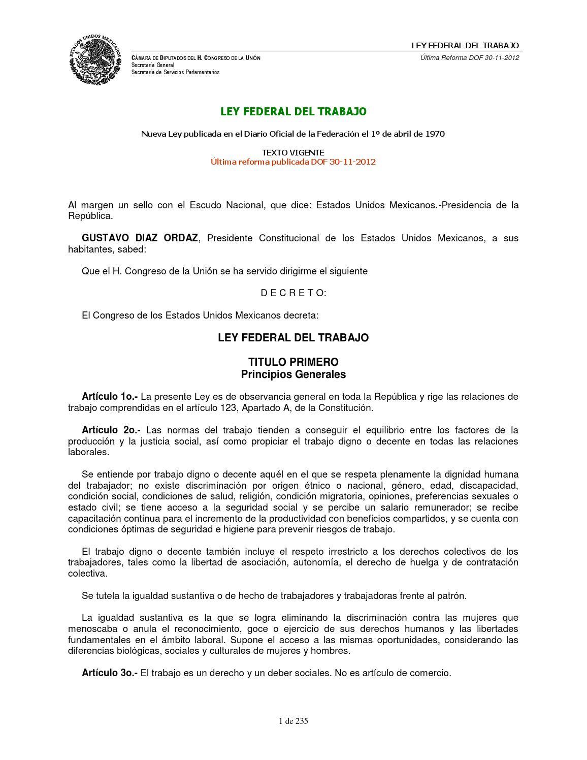 Ley federal del trabajo by FAKTO - issuu
