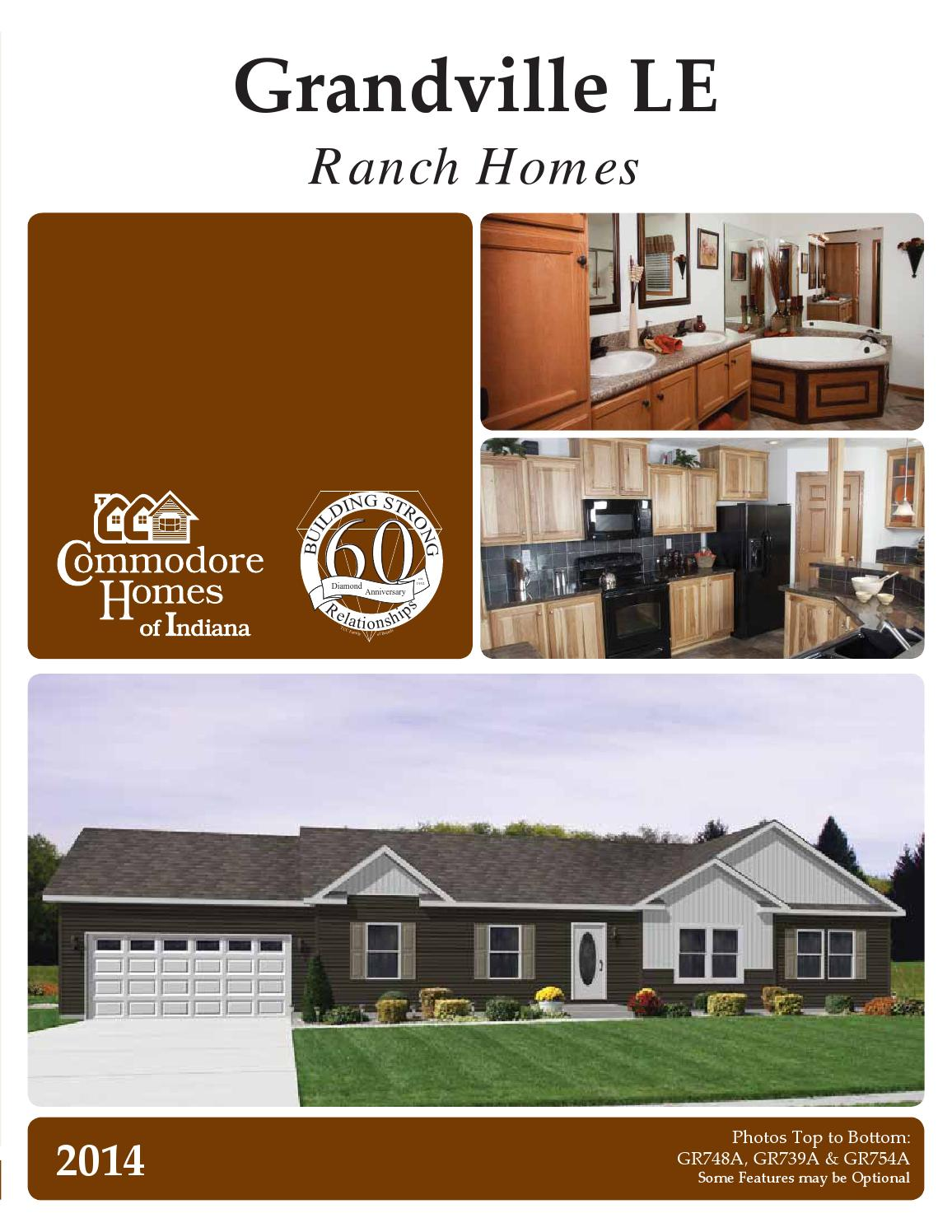 Commodore Homes Indiana Grandville Ranch The