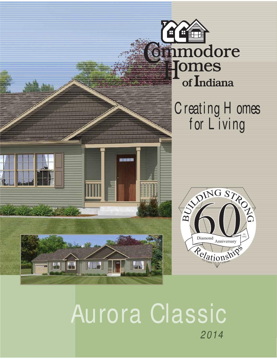 Commodore Homes Of Indiana Aurora Classic Ranch By The
