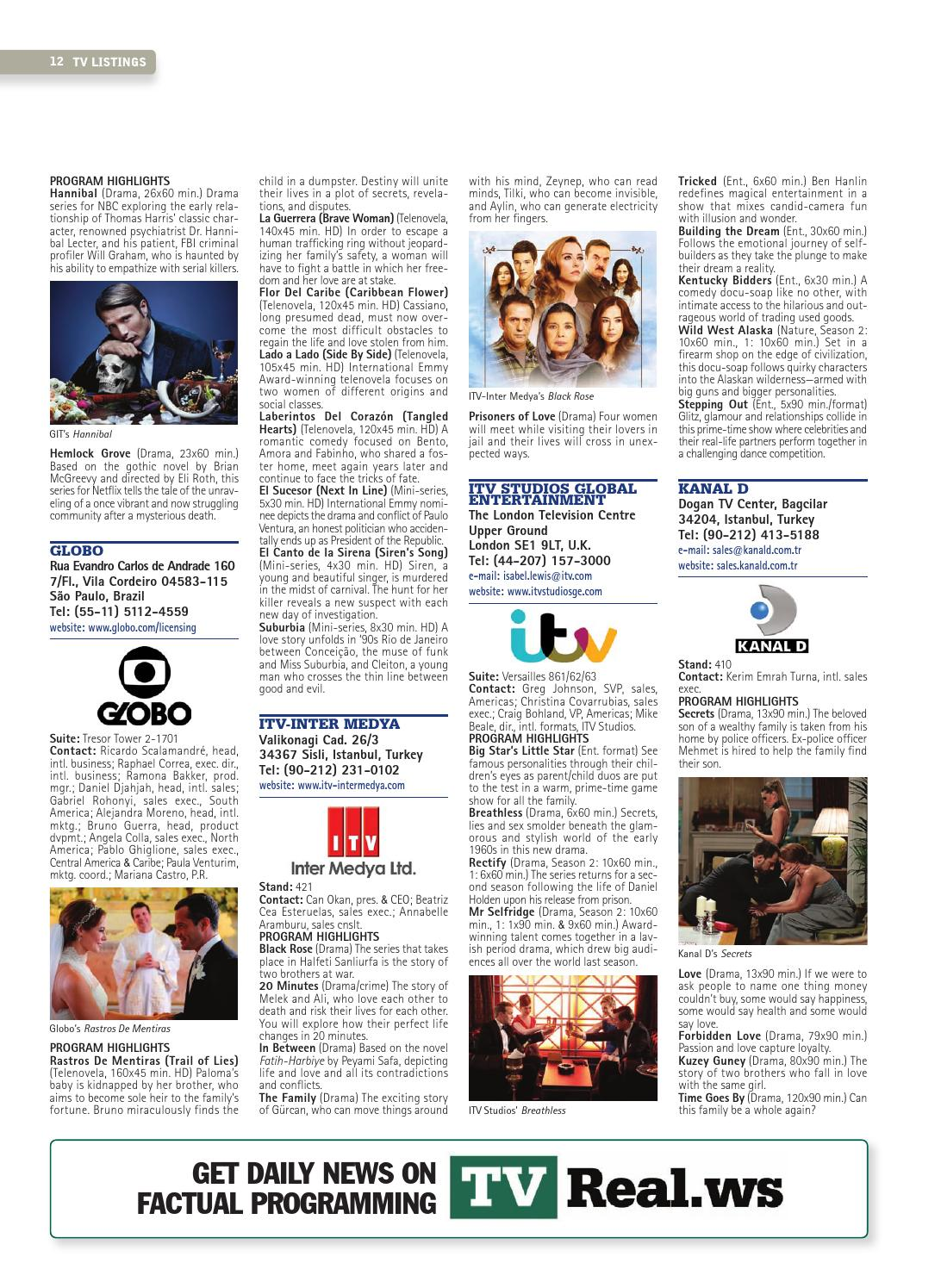 Tv Listings January 2014 By World Screen Issuu