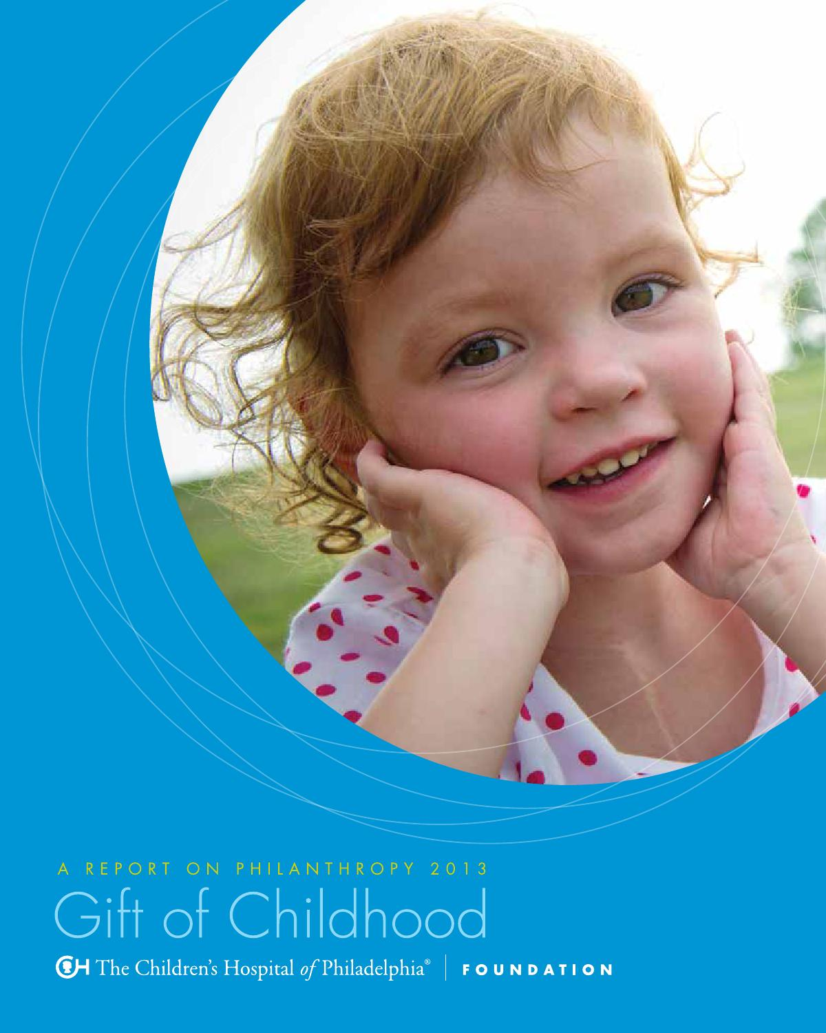 2013 CHOP Philanthropy Report by The Children's Hospital of