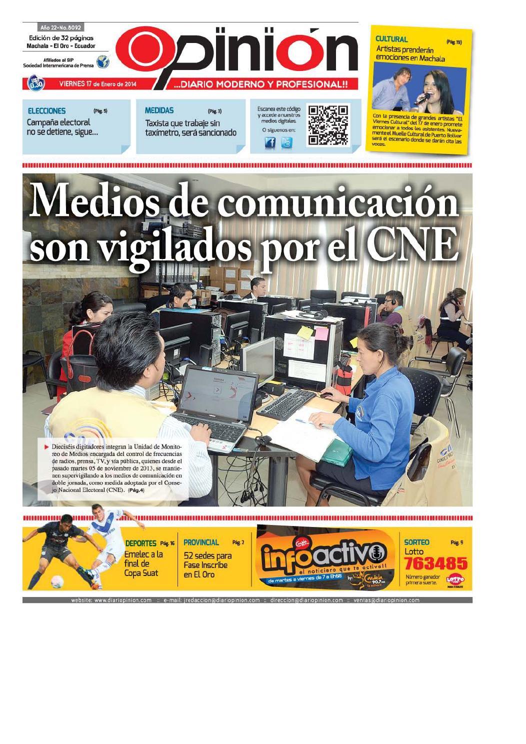 3b6c60ce215fe Impreso 17 01 14 by Diario Opinion - issuu