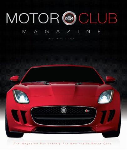 Monticello Motor Club >> Motor Club Magazine Volume 2 By Monticello Motor Club Issuu