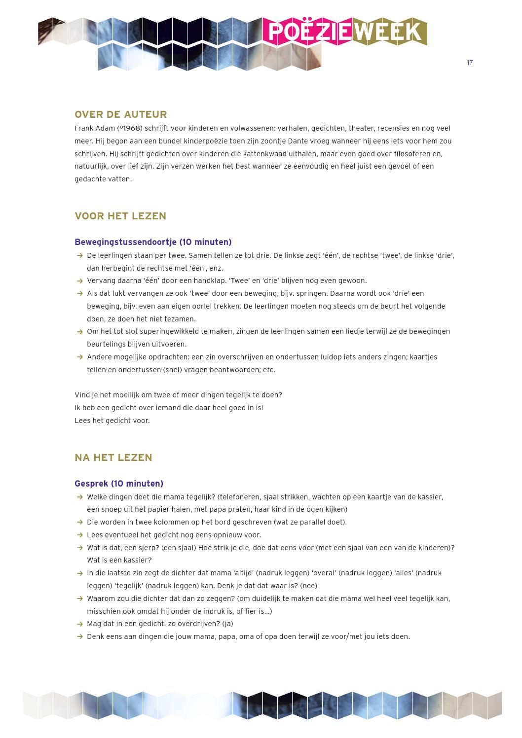 Poëzielessen Voor Basisscholen 2014 Versie 3 By Stichting