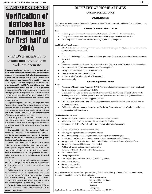Guyana chronicle 17 01 14 by Guyana Chronicle E-Paper - issuu