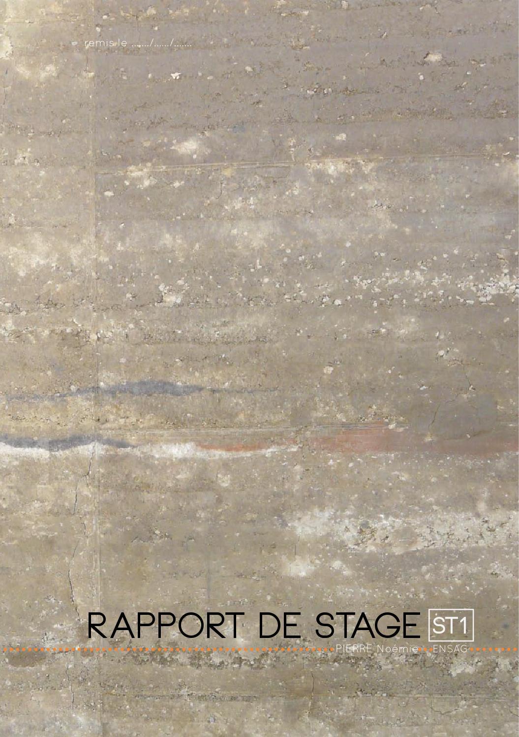 Rapport de stage by no mie issuu - Rapport de stage en cuisine ...