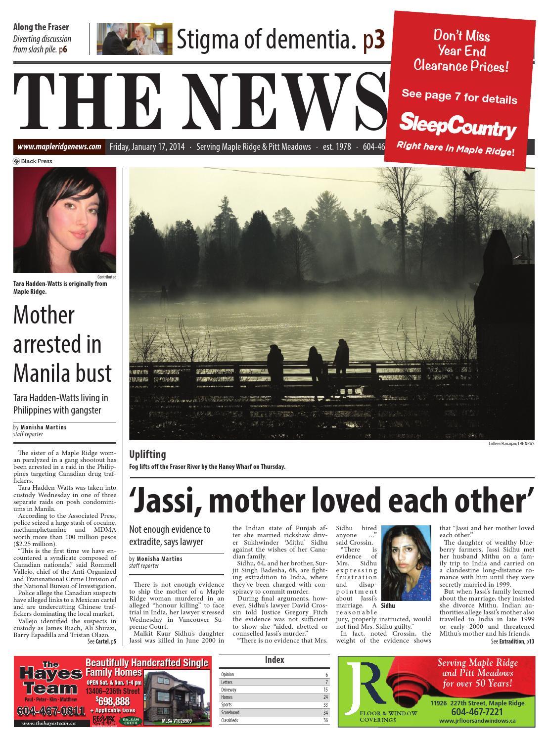 Maple Ridge News, January 17, 2014 by Black Press Media