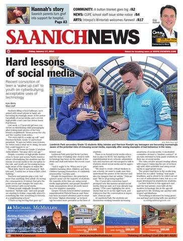 0b47fd7d Saanich News, January 17, 2014 by Black Press Media Group - issuu