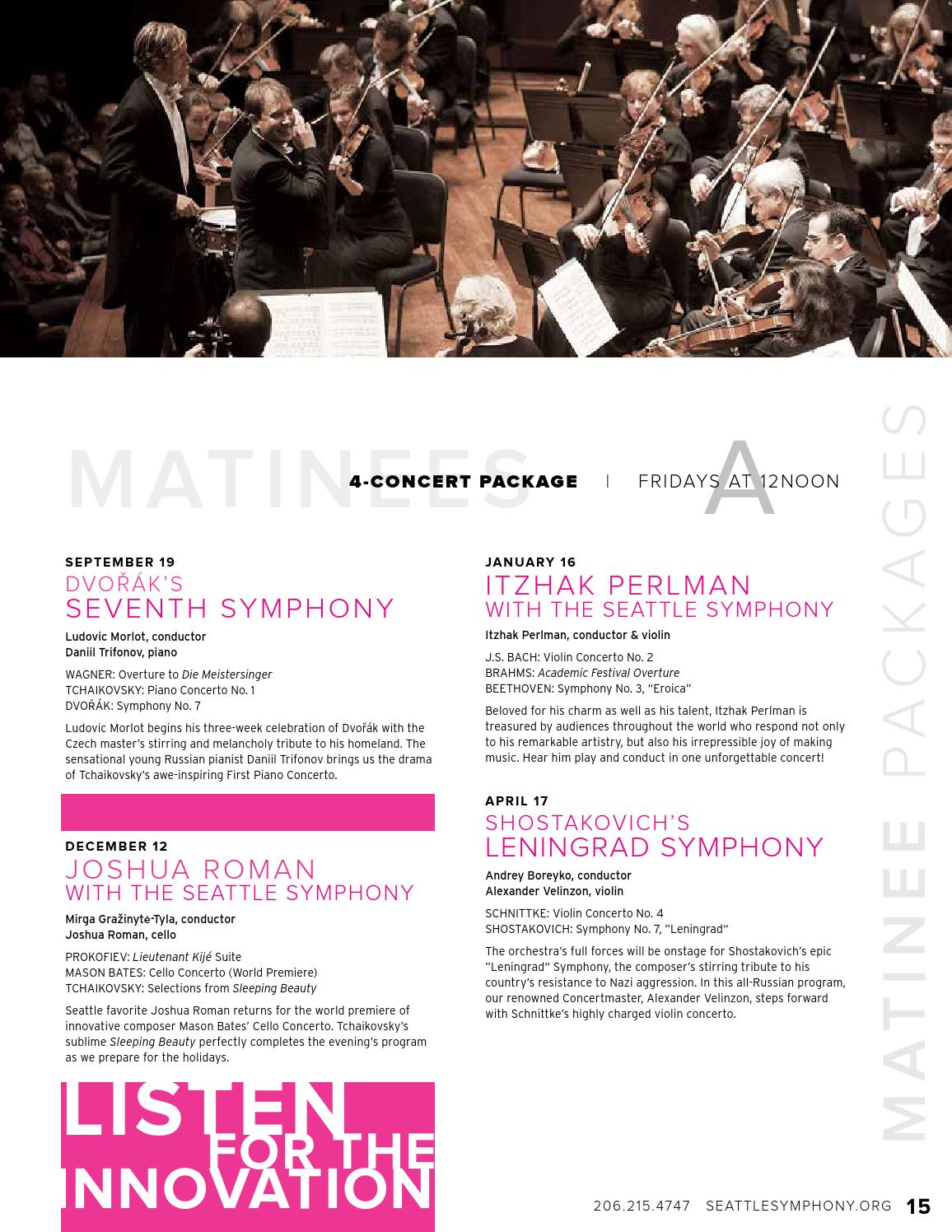 1415 Seattle Symphony Season Brochure by Seattle Symphony - issuu