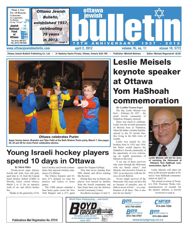 Ottawa jewish bulletin 2012 04 02(inaccessible) by The Ottawa Jewish