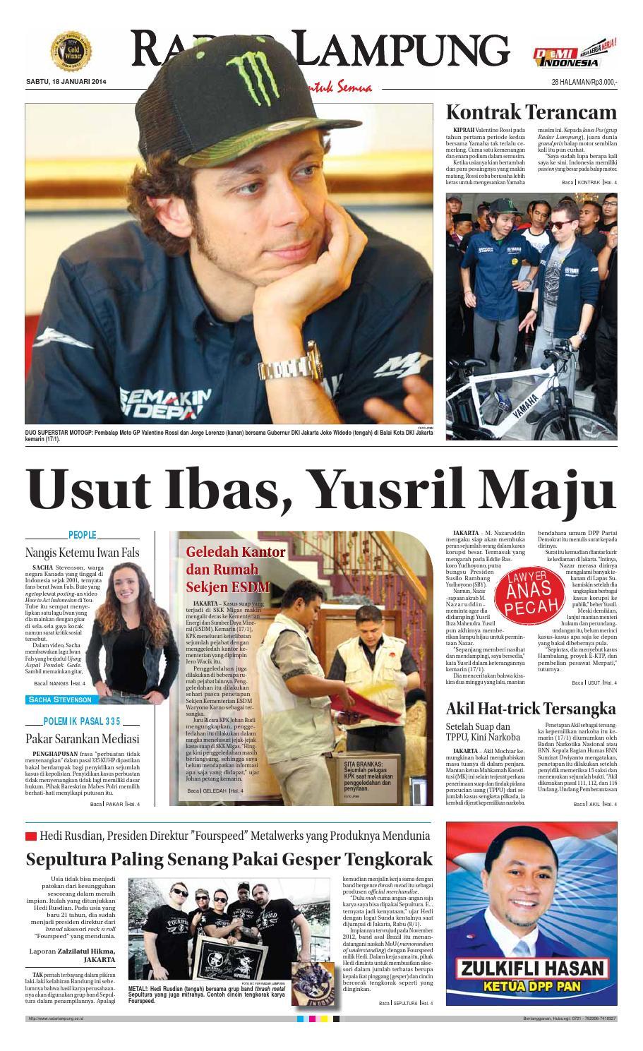 Radar Lampung Sabtu 18 Januari 2014 By Ayep Kancee Issuu Produk Ukm Bumn Bunge Tanjung Betabur