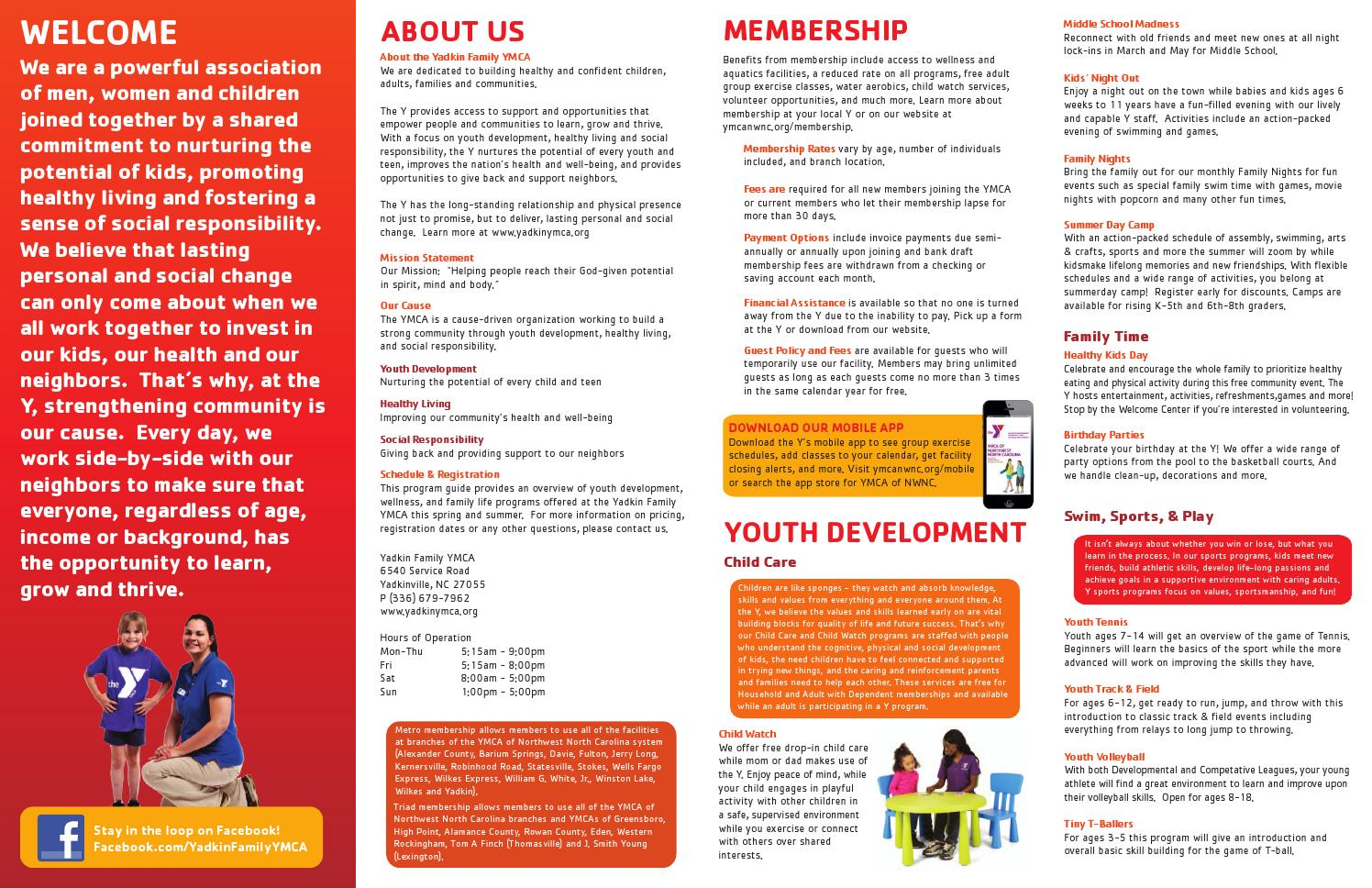 Financial Assistance, Membership, Programs - YMCA