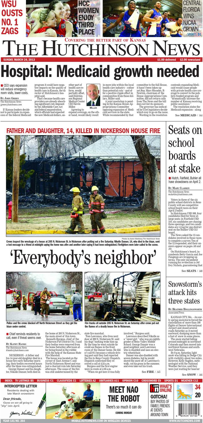 2013 03 24 by The Hutchinson News - issuu