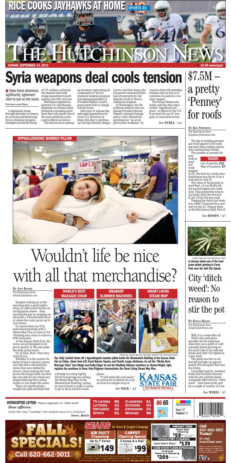 2013 09 15 By The Hutchinson News