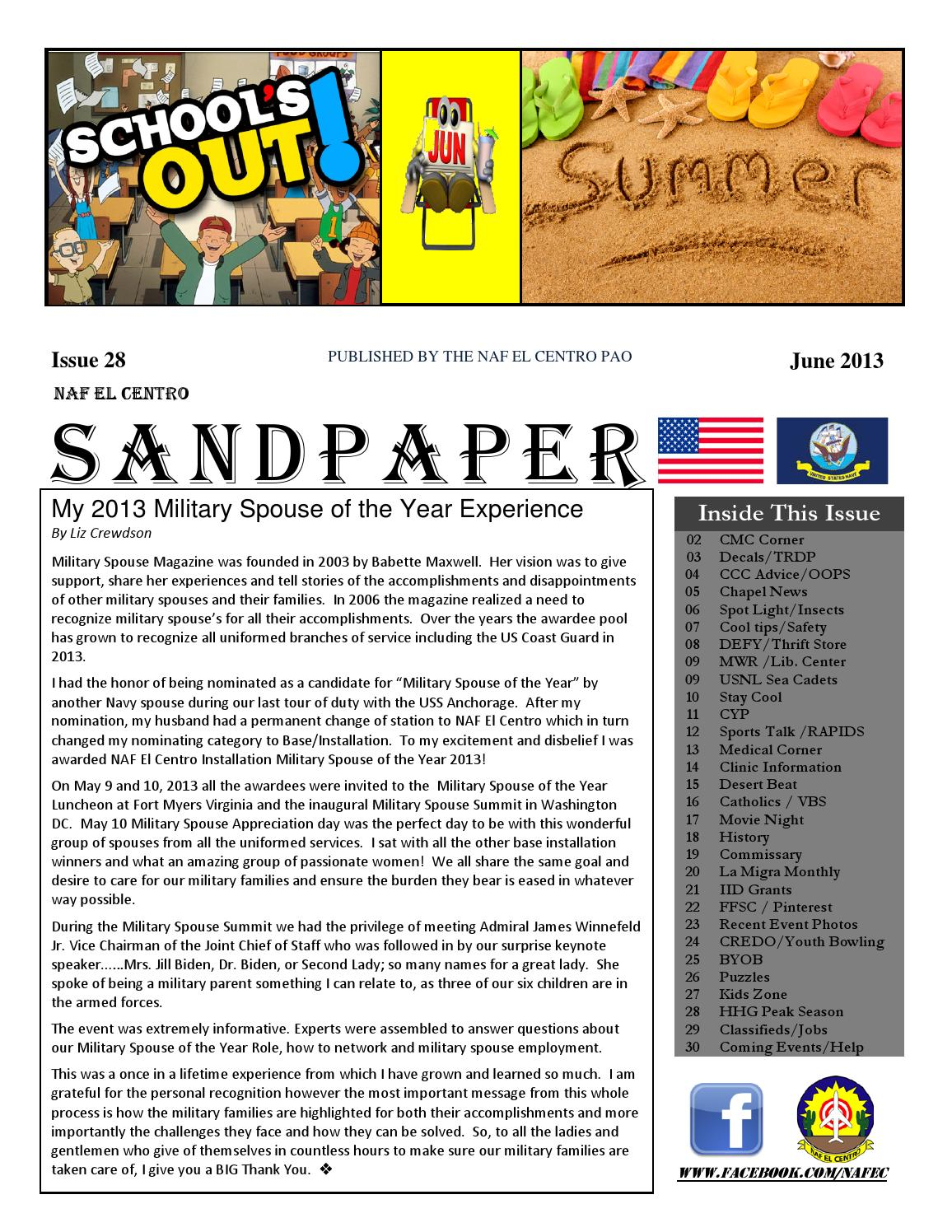 Sandpaper Issue 28 June 2013 By Our Family Inspiration