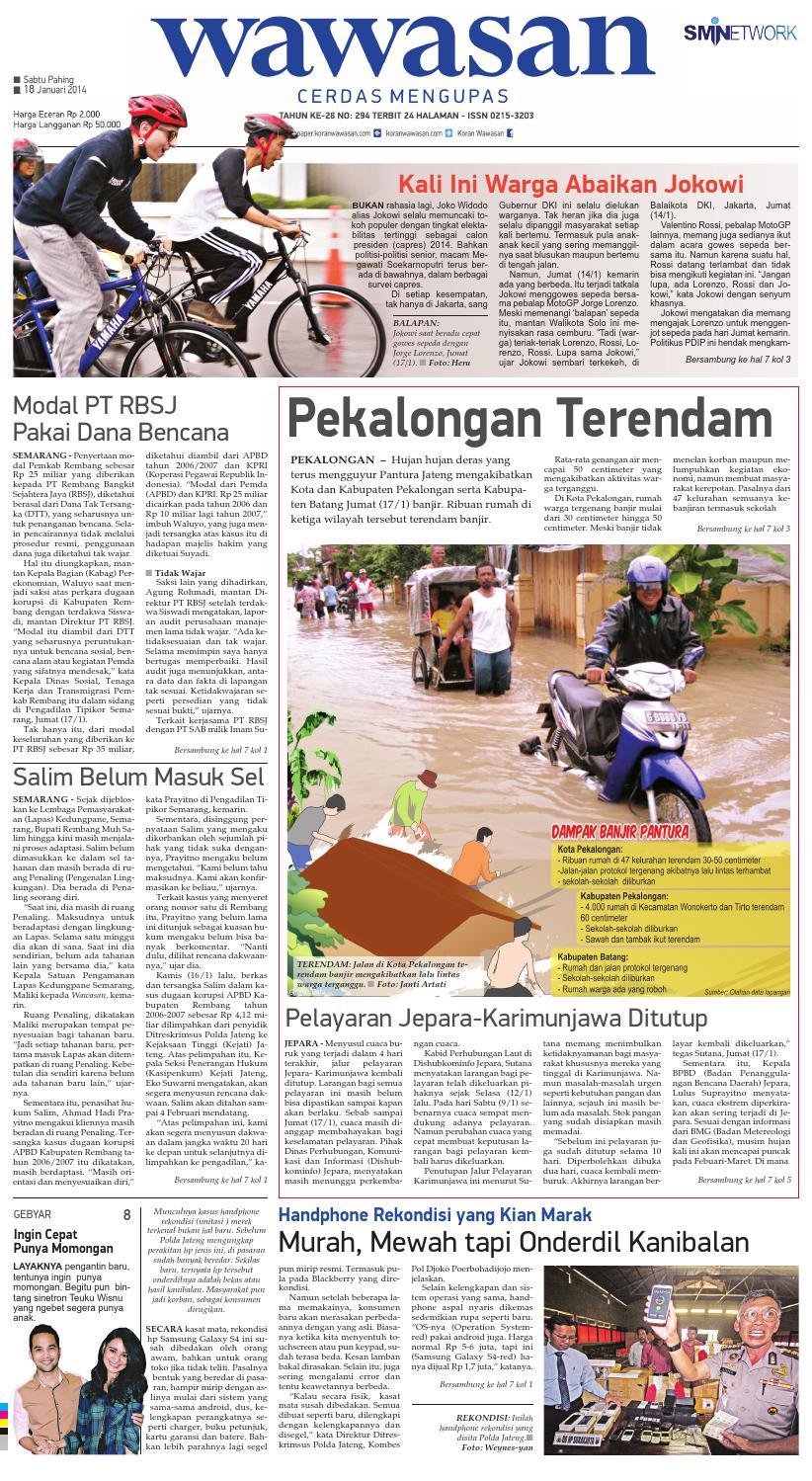 Wawasan 18 Januari 2014 By Koran Pagi Issuu Revo Fit Neo Green Karanganyar