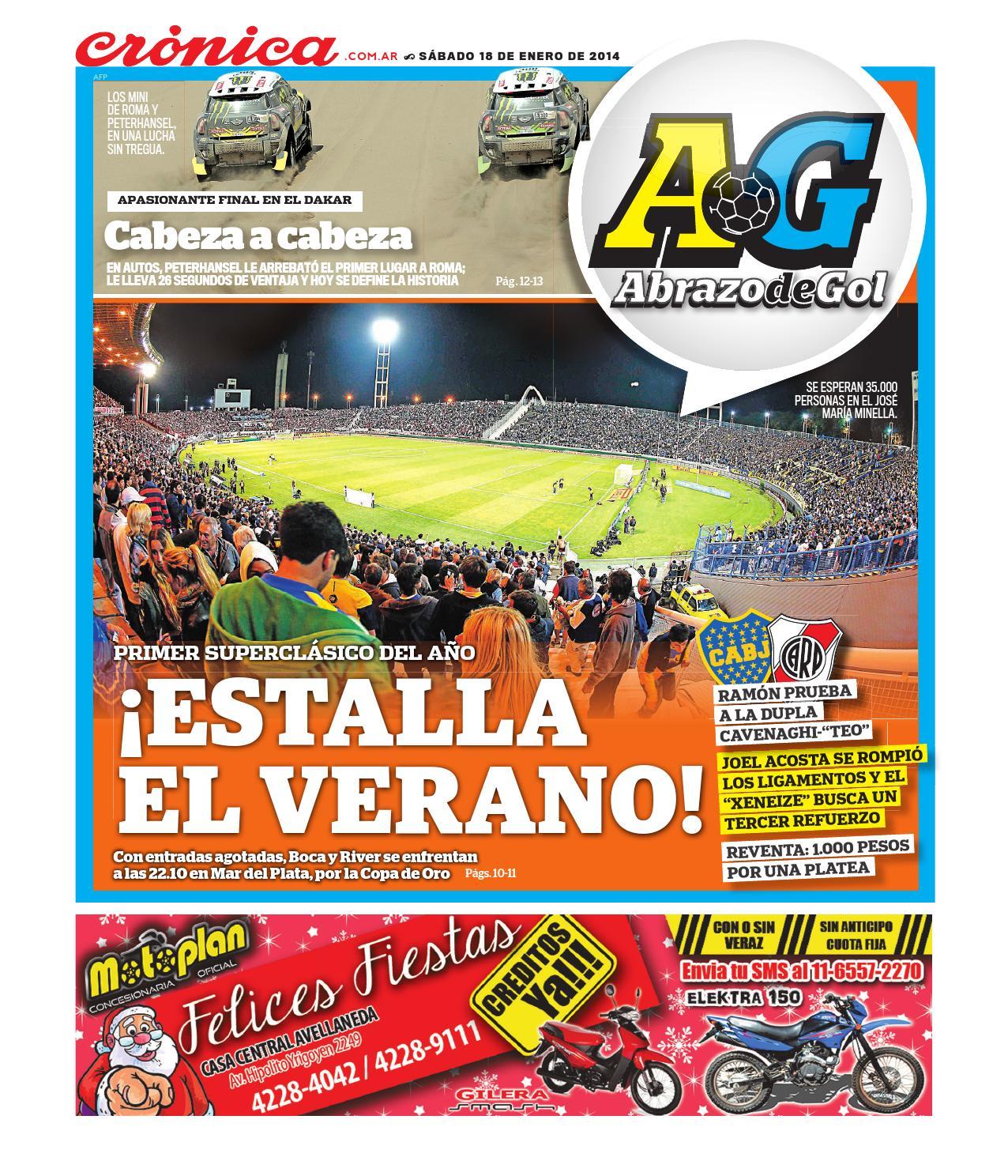 d1ec0f7a1a5 Diario Crónica Abrazo De Gol 2014 01 18 by Grupo Crónica - issuu