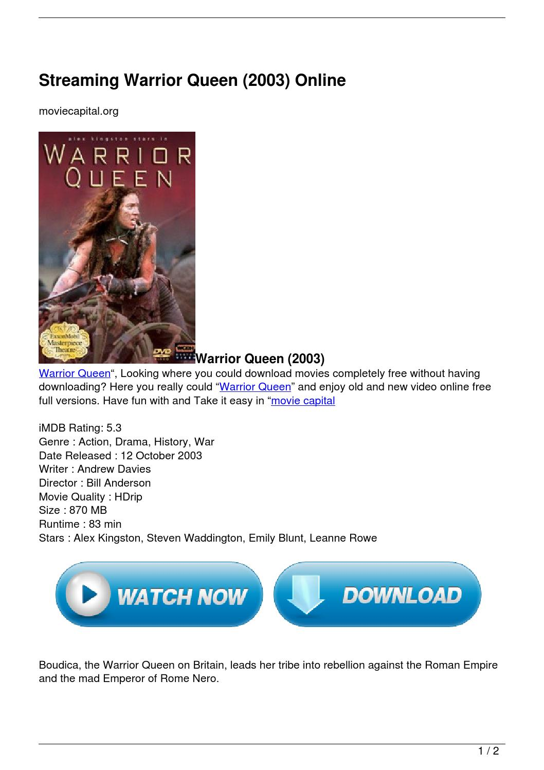 warrior queen 2003 full movie download