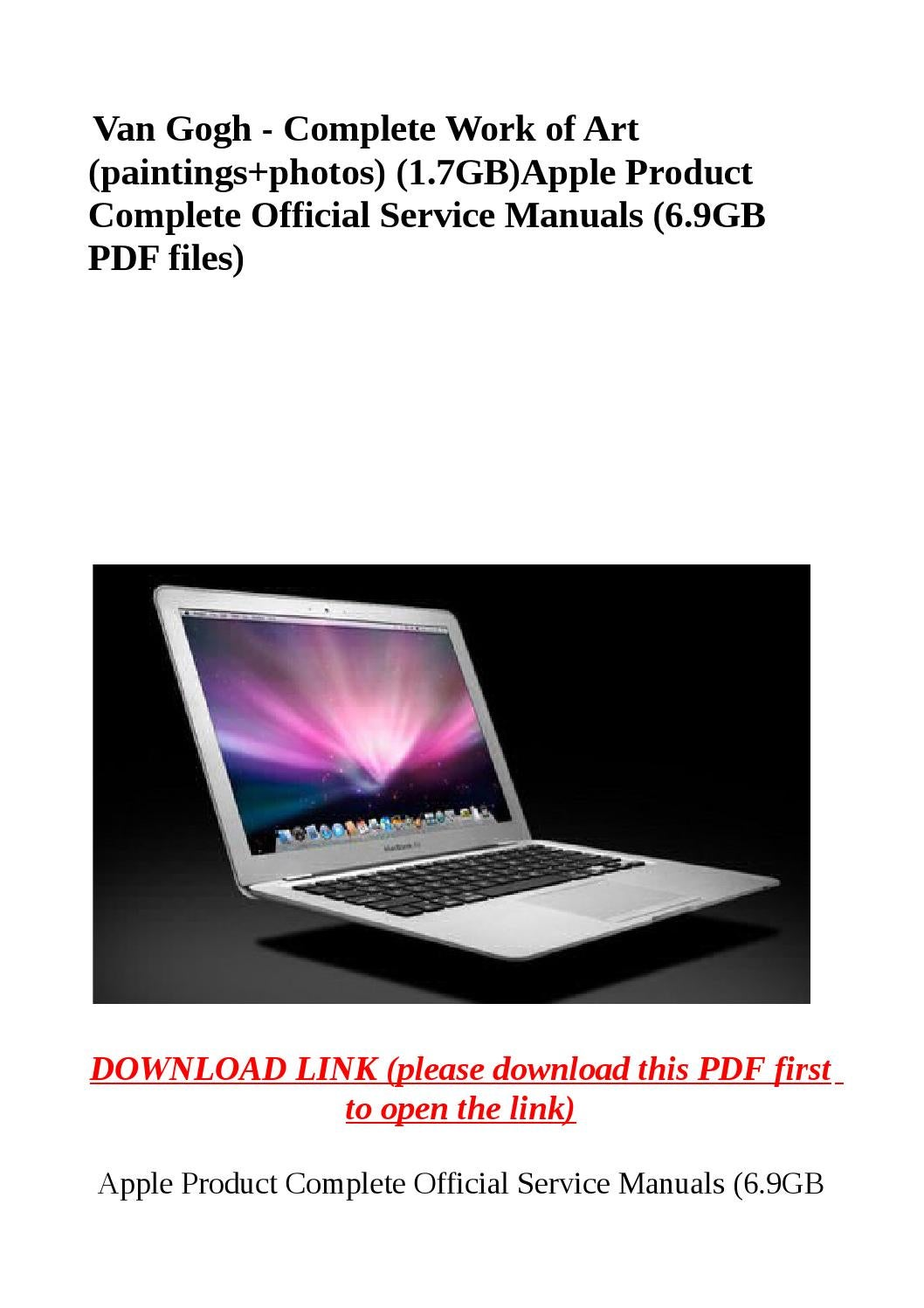 Apple product complete official service manuals (6 9gb pdf files) by  abcdeefr - issuu