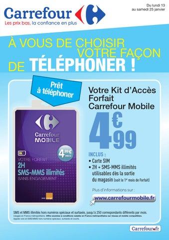 Carrefour promo telephone
