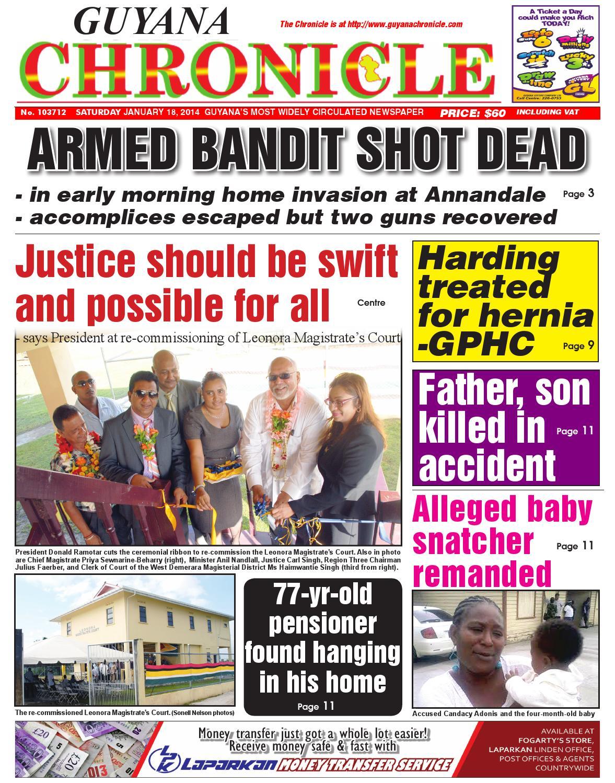 Guyana chronicle 18 01...