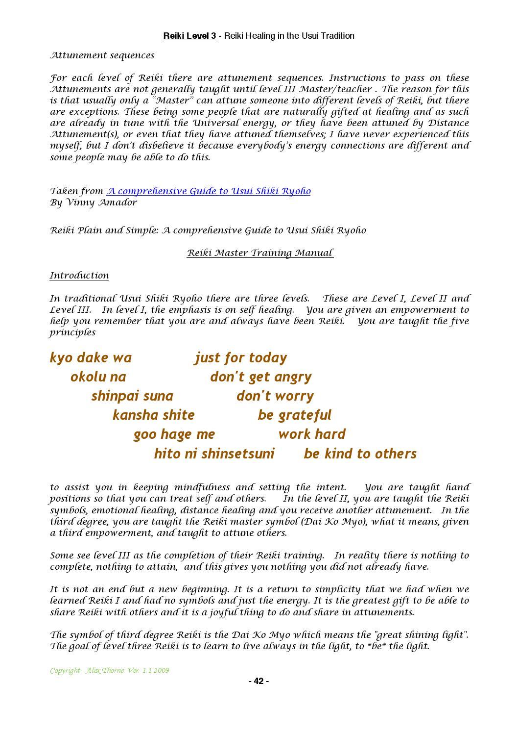 Reiki 3 Manual By Alex Thorne Issuu