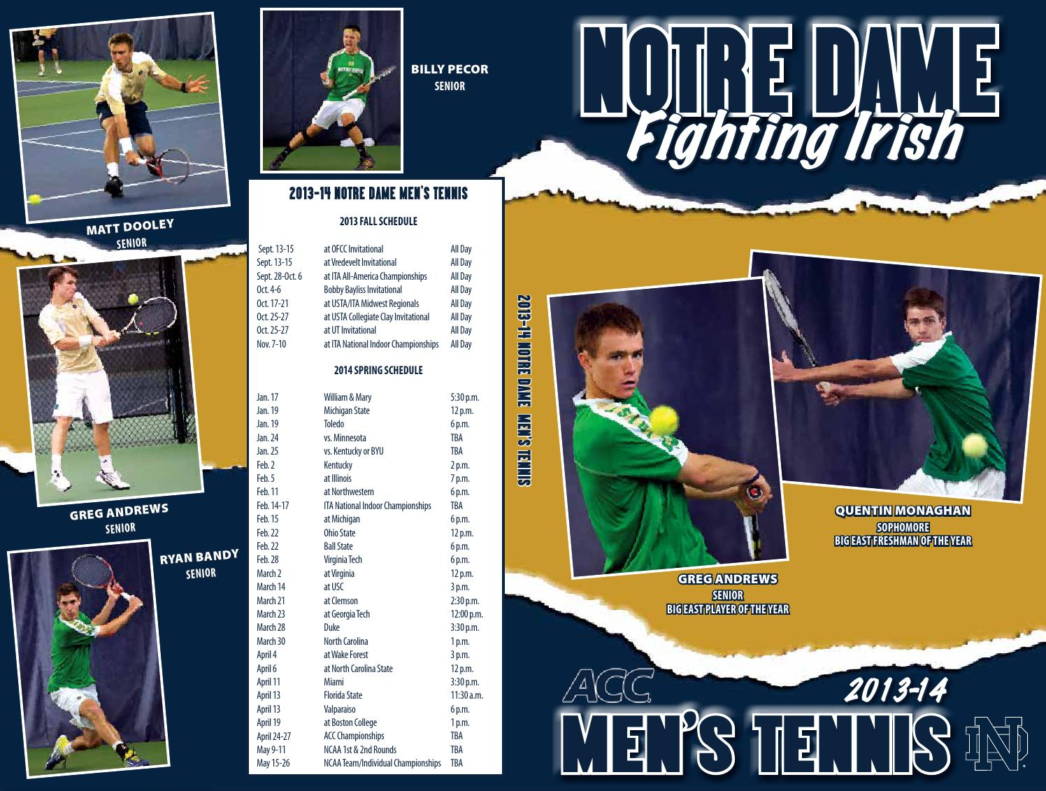 2013 14 Notre Dame Men S Tennis Media Guide By Chris Masters Issuu 2004 grandstand aberdeen ironbirds #nno josh potter. 2013 14 notre dame men s tennis media