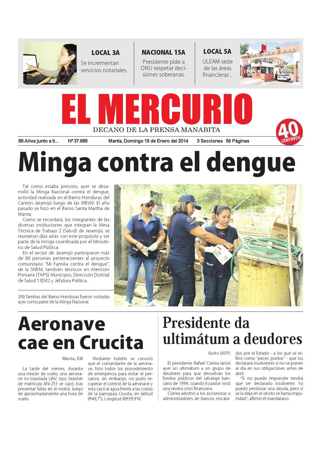 Mercurio domingo 19 de enero del 2014 by Diario El mercurio - issuu