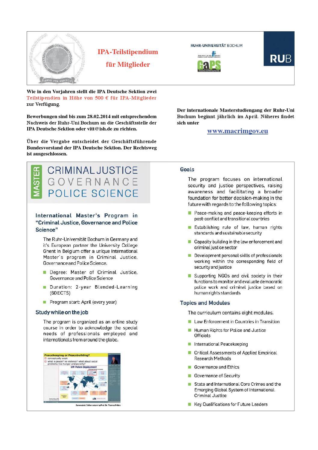 ipa teilstipendium ruhruni bochum by oliver hoffmann issuu - Uni Bochum Bewerbung